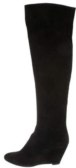 Giuseppe Zanotti Suede Over-The-Knee Boots Black Suede Over-The-Knee Boots