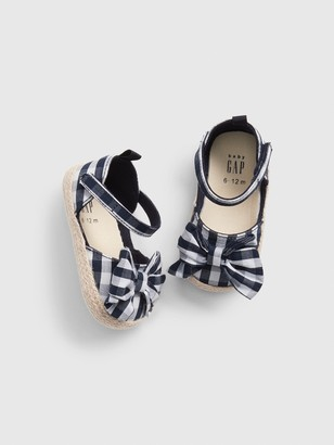 Gap Baby Gingham Bow Espadrille Sandals