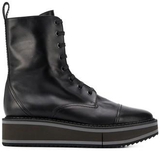 Clergerie British flatform-sole boots