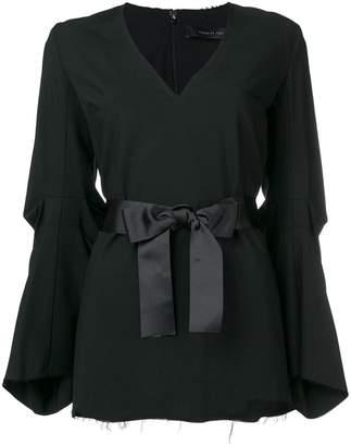 FEDERICA TOSI ribbon belt blouse