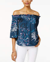 Rachel Roy Shirred Off-The-Shoulder Top, Only at Macy's