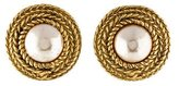 Chanel CC, Pearl & Rope Clip On Earrings