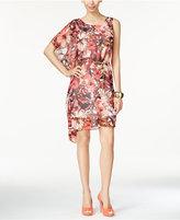 Thalia Sodi Printed Asymmetrical A-Line Dress