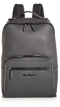 Salvatore Ferragamo Revival Coated Leather Backpack