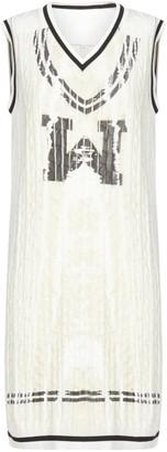 Maison Margiela Logo Cable-knit Cotton Dress