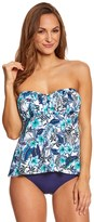 Penbrooke Palm Spring Shirred Bandeau Tankini Top 8150436