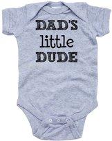 Apericots Dad's Little Dude Short Sleeve Infant Boys Bodysuit