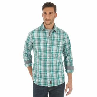 Wrangler Mens Retro Two Pocket Long Sleeve Snap Button Down Shirt