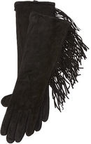 Ralph Lauren Fringed Suede Gloves