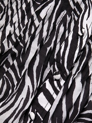 MICHAEL Michael Kors Zebra-Print Cotton Mini Dress