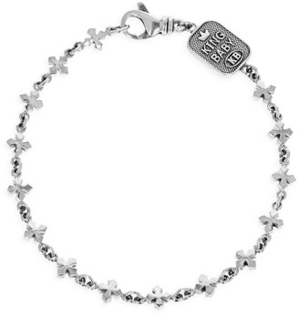 King Baby Studio New Classics Sterling Silver Small Cross Chain Bracelet