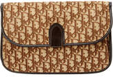 Christian Dior Beige Monogram Canvas Trotteur Clutch