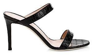 Giuseppe Zanotti Women's Crocodile Print Double Strap Sandals