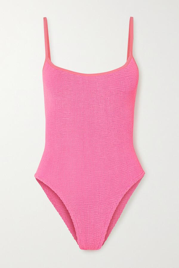 Thumbnail for your product : Hunza G + Net Sustain Pamela Seersucker Swimsuit