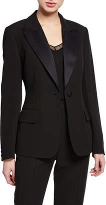St. John Tuxedo Jacket with Duchess Satin Lapel