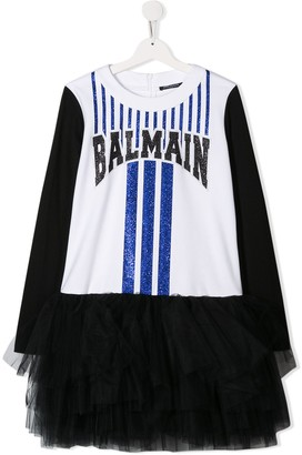 Balmain Kids TEEN tutu T-shirt dress