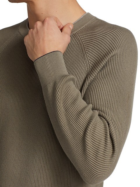 Thumbnail for your product : Brunello Cucinelli Ribbed Crew Sweater