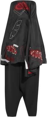Roksanda Embellished Silk Organza-trimmed Cotton-blend Top And Pants Set