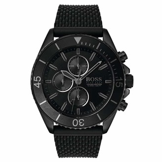 HUGO BOSS Mens Chronograph Quartz Watch with Silicone Strap 1513699