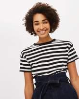 Topshop Bold Stripe Marle Tee