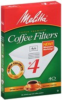 Melitta 624404 40 Count White Cone Coffee Filters