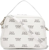 Courreges logo print cross body bag