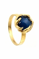 House Of Harlow Antler Button Ring in Yellow Gold