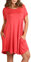 Umgee USA Coral T Shirt Dress