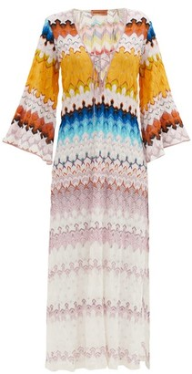 Missoni Lace-up Stripe-knitted Kaftan - Multi