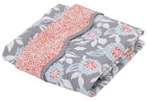 Balboa Baby Cotton Sateen Coverlet - Gray Dahlia & Coral Bloom