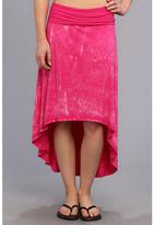Pink Lotus High Low Skirt