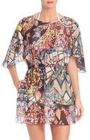 Emilio Pucci Mosaic-Printed Silk Caftan
