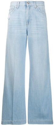 7 For All Mankind high waist flare jeans