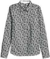 H&M Stretch Shirt - White - Ladies