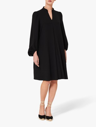 Hobbs Natasha Puff Sleeve Dress, Black