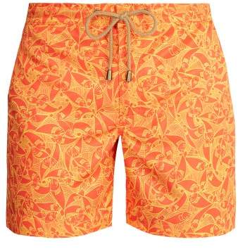 Thorsun Titan Fit Pescado Print Swim Shorts - Mens - Orange