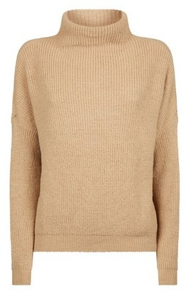 Dorothy Perkins Womens Camel Slouchy Batwing Sleeve Jumper