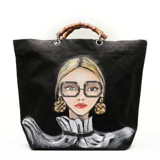 Utmon Es Pour Paris Parisienne Medium Shopper In Black/White