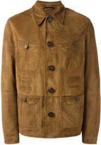 Lanvin textured leather jacket - men - Leather/Viscose - 48
