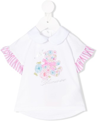 Miss Blumarine embellished logo T-shirt
