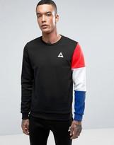 Le Coq Sportif Tricolore Crew Sweatshirt In Black 1710411