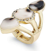 Thalia Sodi Gold-Tone Tortoiseshell-Look Stretch Ring, Created for Macy's