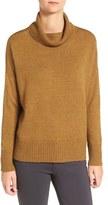 Eileen Fisher Women's Wool Blend Jersey Turtleneck Sweater