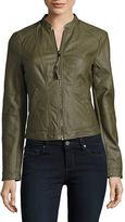 Vero Moda Faux Leather Bomber Jacket