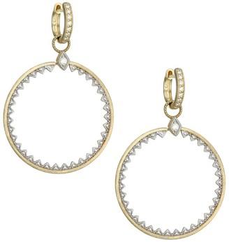Jude Frances Lisse Medium 18K Yellow Gold & Diamond Open Circle Half Kite Earring Charms