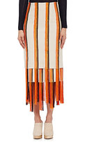 Gabriela Hearst GABRIELA HEARST WOMEN'S EMBROIDERED CANVAS ORELLA SKIRT SIZE 40 IT
