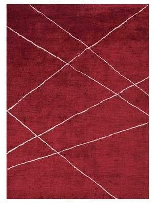 Latitude Run Masie Gabbeh Hand-Knotted Cotton Red Area Rug Latitude Run Rug Size: Rectangle 6' x 9'