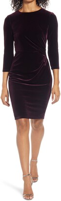 Eliza J Velvet Sheath Cocktail Dress
