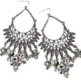 Women's Silver Jeweled Dangle Earrings