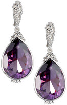 Judith Ripka Bermuda Pear Crystal Drop Earrings, Purple
